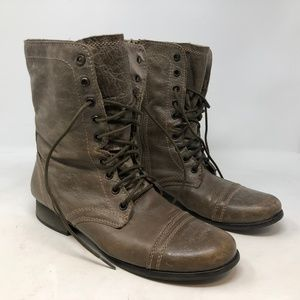Steve Madden TROOPA Leather Combat Boots Size 10.5
